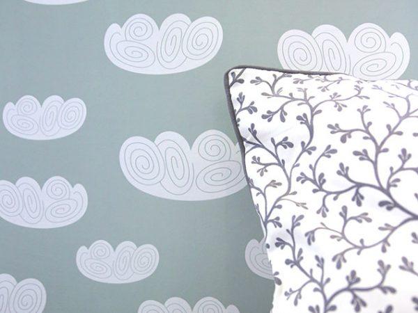 bambilicious Wand mit Wolken